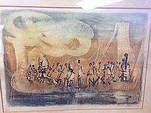 RARE Joseph Kossonogi (1908-1981) UNTITLED SERIOGRAPH 5/150 SIGNED