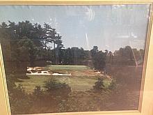 Pinevally Golf Club Pole #5. 22 Yards Framed Art