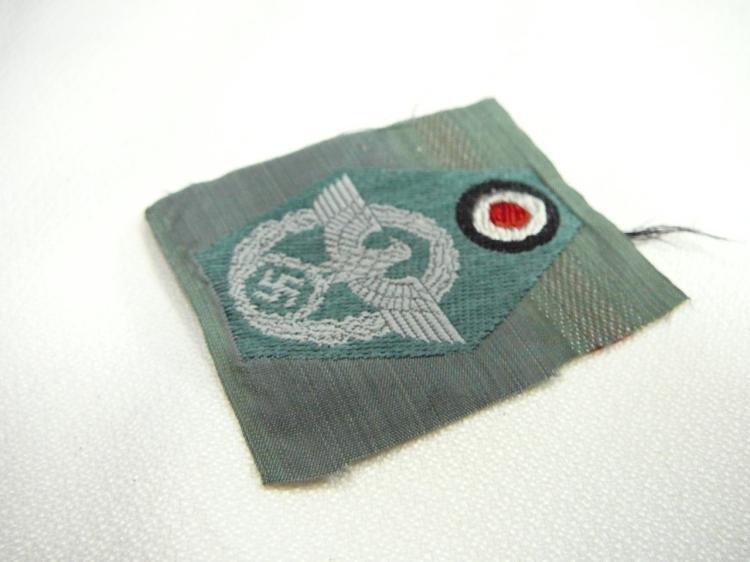 WW2 German Police M43 Cloth Cap Insignia