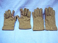 2 PAIRS WW2 US ARMY COLD WEATHER GLOVES WOOL W/ LEATHER PALMS