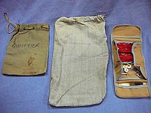 GROUP OF 3 WW2 PERSONAL ITEM BAGS & 1 SOLDIERS WIFE