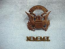 WW2 ERA NEW MEXICO MILITARY INSTITUTE CAP & COLLAR  INSIGNIA