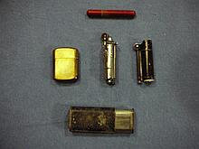 WW1 -WW2 GROUP OF 5 LIGHTERS -DUNHILL TRENCH STYLE & MORE!