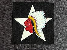 WW1 ARMY 2ND DIVISION MARINE HEADQUARTERS INDIAN HEAD SHOULDER PATCH