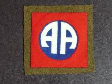 WW1 US ARMY 82ND DIVISION SHOULDER PATCH