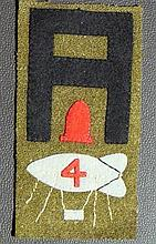 WW1 IST ARMY DIVISION ARTILLERY BALLOON OBSERVORS SHOULDER PATCH