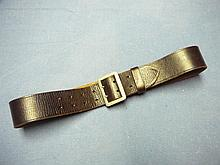 WW2 GERMAN OFFICERS LEATHER BELT AND OPEN CLAW BUCKLE