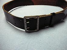 WW2 GERMAN OFFICERS BELT AND BUCKLE PATENT LEATHER BELT