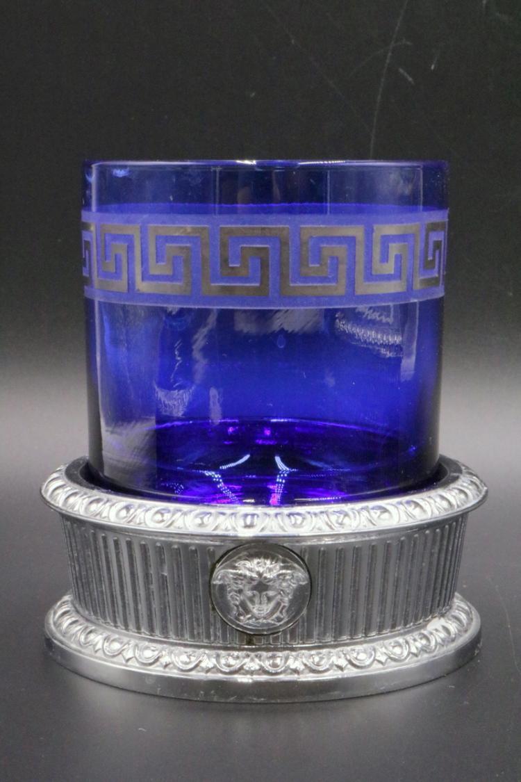 Versace medusa i classici platinum plated bronze bathroom for Bronze and silver bathroom accessories