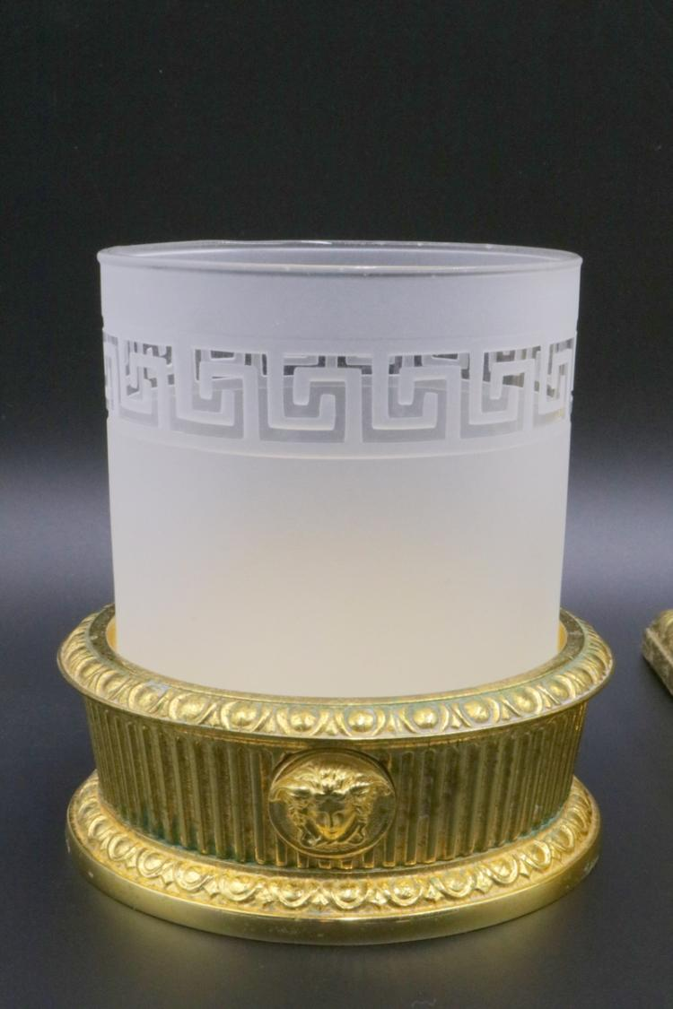 Versace medusa i classici 24kt plated bronze bathroom coll for Bronze and gold bathroom accessories