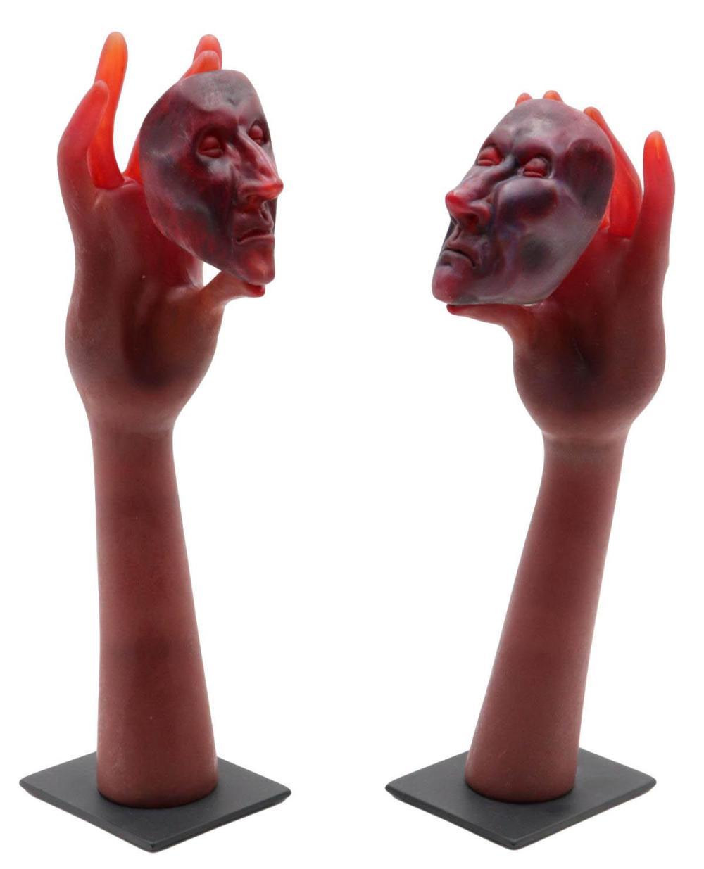 """Ross Richmond """"Conversationalists"""" Art Glass Sculptures"""