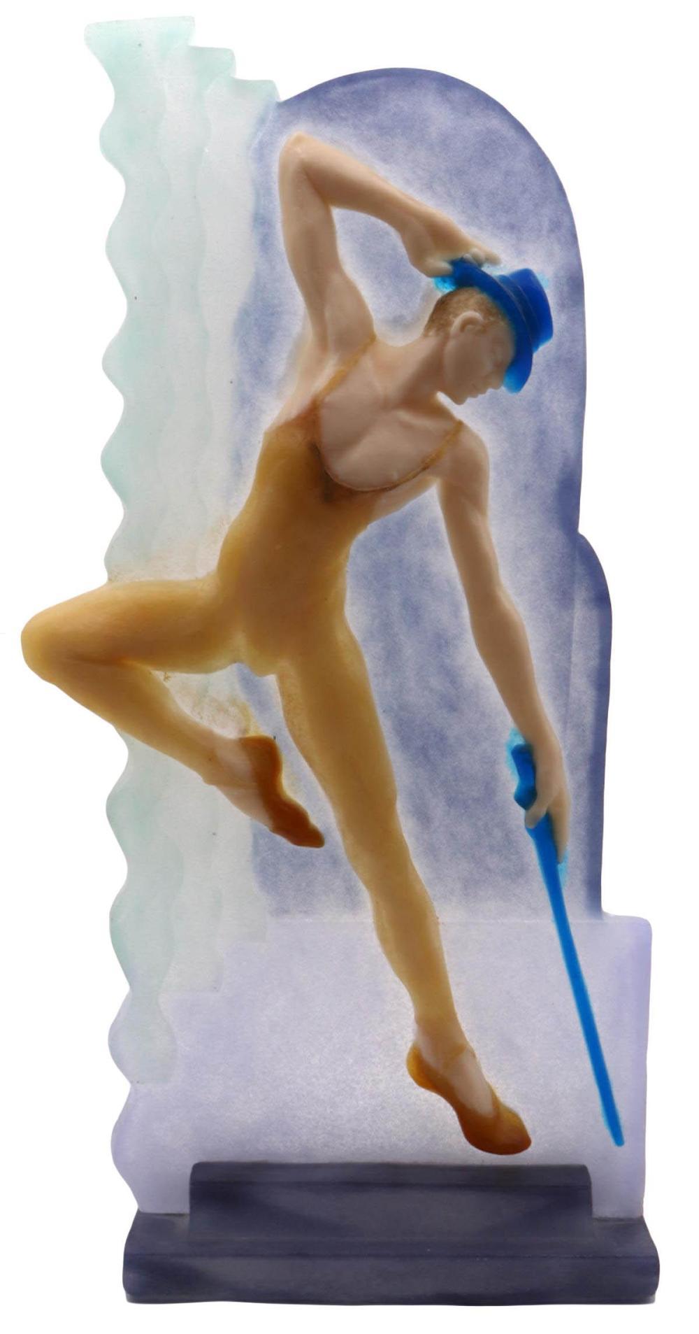 "Wendy Saxon-Brown ""Dancer"" Art Glass Sculpture"