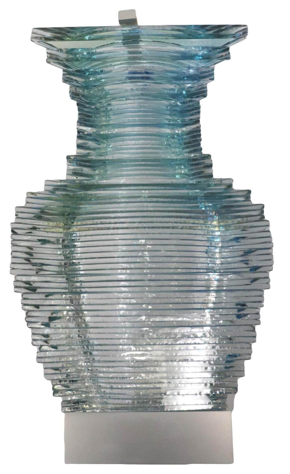 """Sidney Hutter """"Quasi Modern #57"""" Glass Sculpture"""
