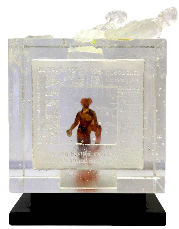 "Antoine Leperlier ""Memory Effects VIII"" Art Glass Sculpture"