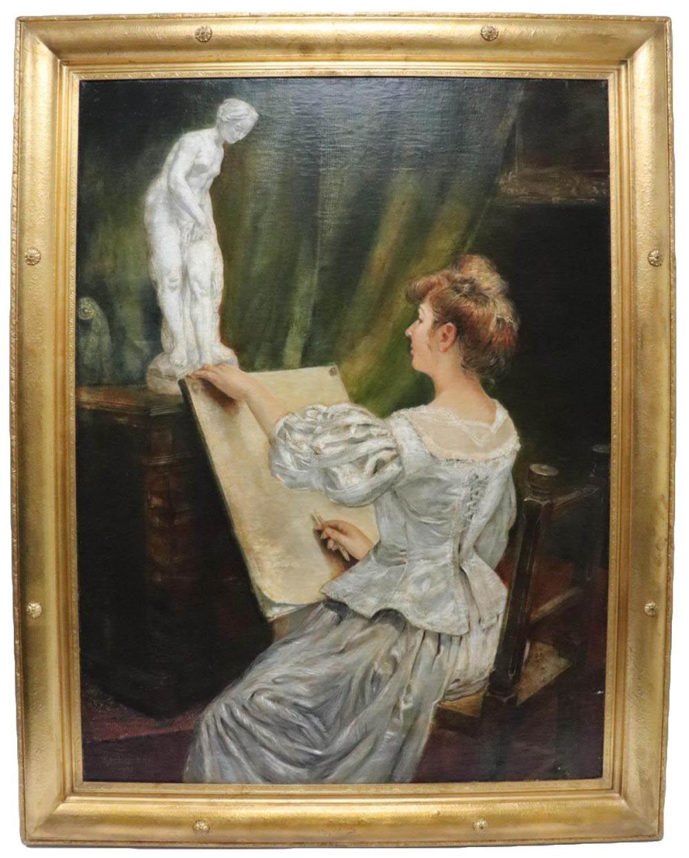 Jean Bernard Eschemann 20th C. Oil Painting