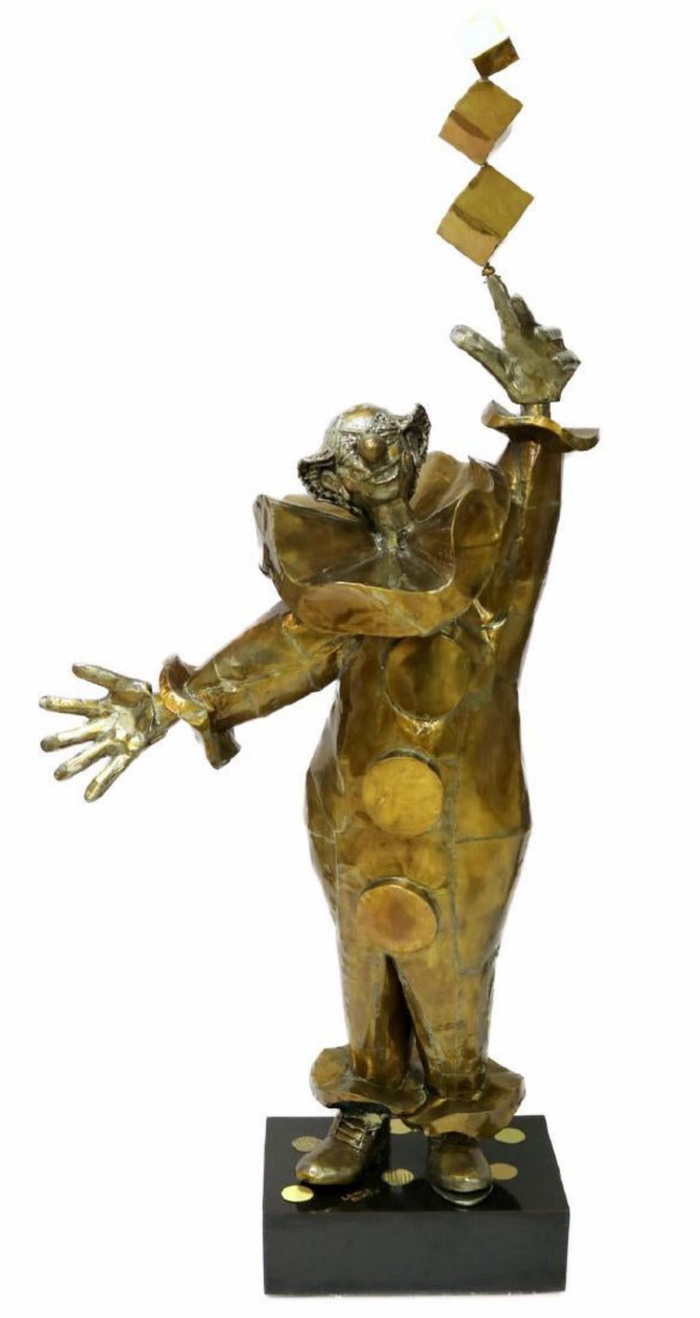 """Large 67"""" X 31"""" Leonard Bernstein """"Clown"""" Copper"""