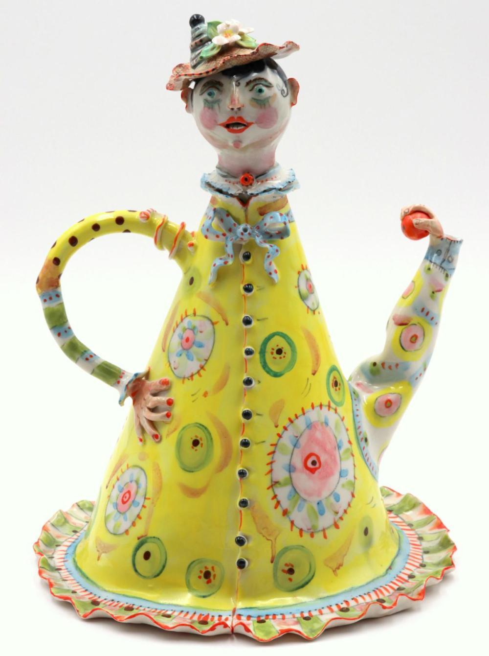 Irina Zaytceva (Russian, b. 1937) Porcelain Tea Pot