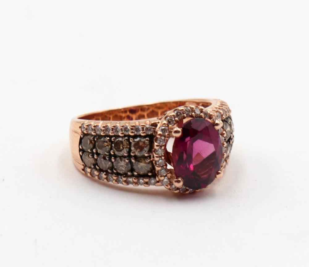 Levian 14Kt Rhodolite Garnet & Diamond Ring