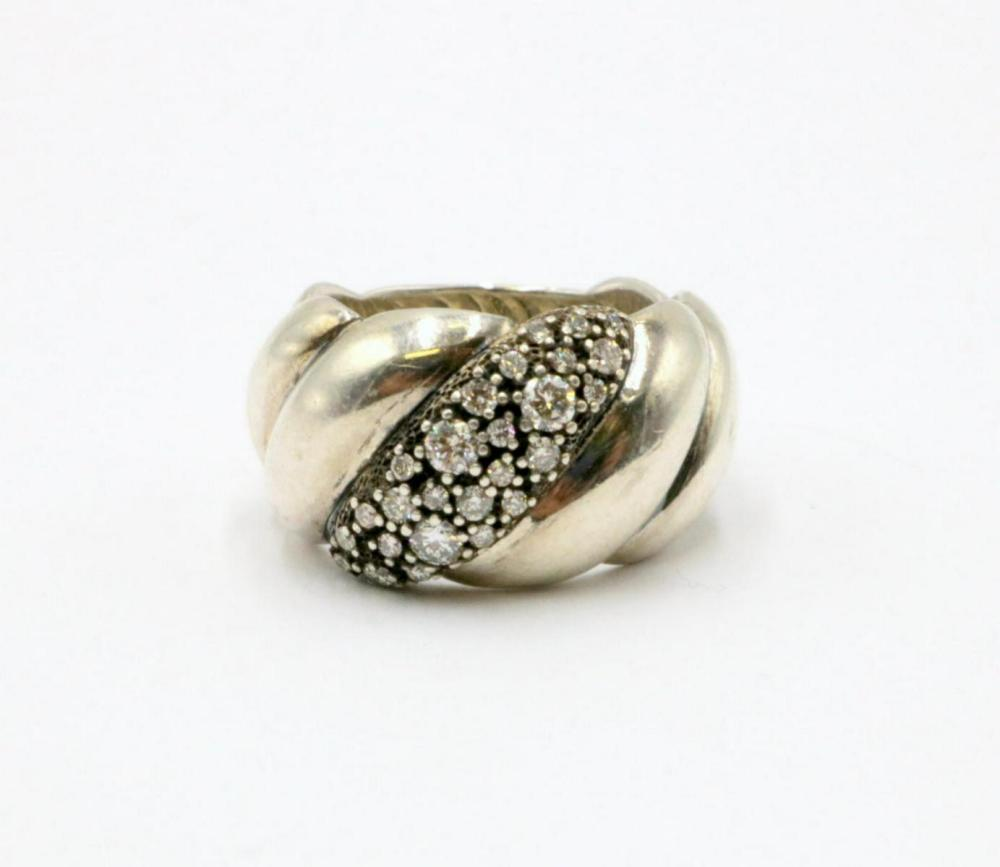 Vintage David Yurman Diamond & Sterling Ring
