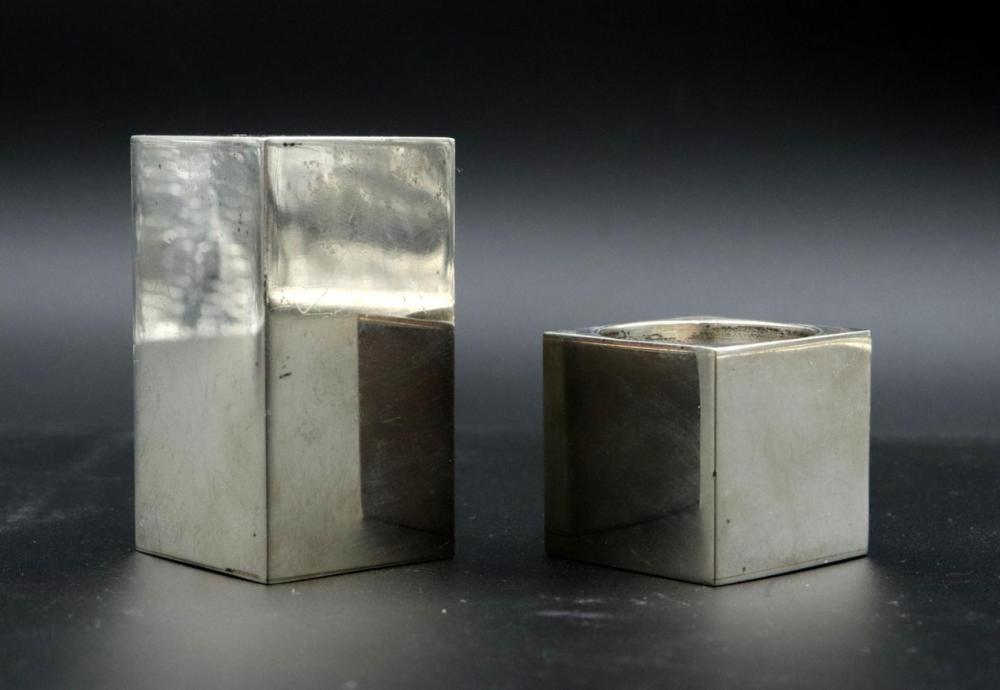 Modernist Tiffany & Co. Sterling Salt & Pepper Shakers