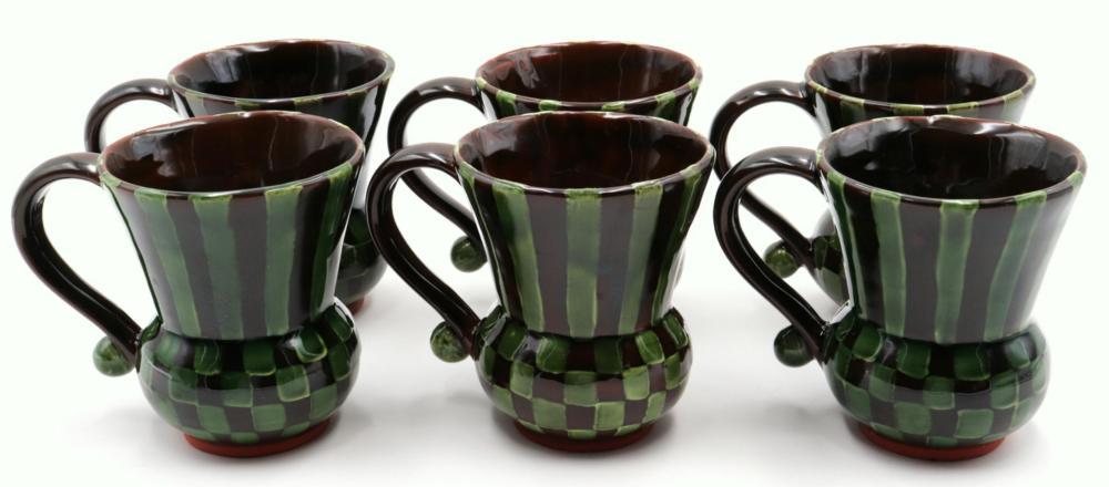 6 Mackenzie Childs Mugs