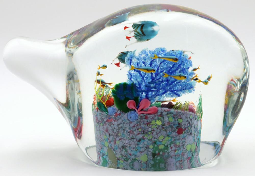"""Heilman Roessler """"Blue Angels"""" Art Glass Sculpture"""