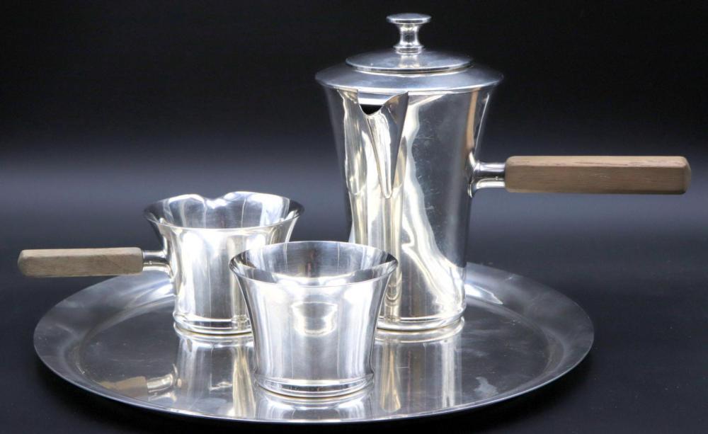Modernist Porter Blanchard Sterling Coffee Set