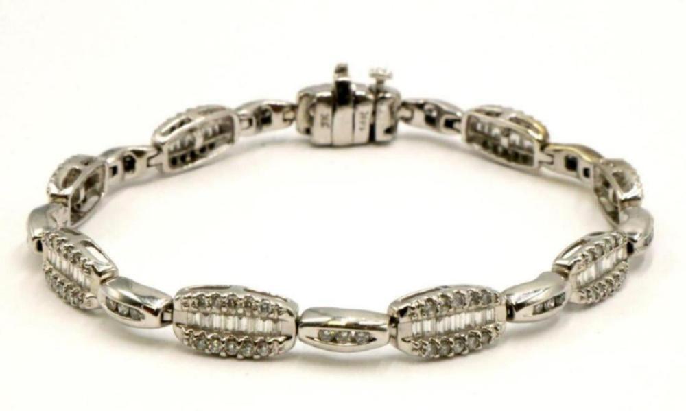 14Kt 1.89ct. Diamond Bracelet