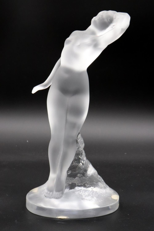 Lalique Crystal Nude Sculpture