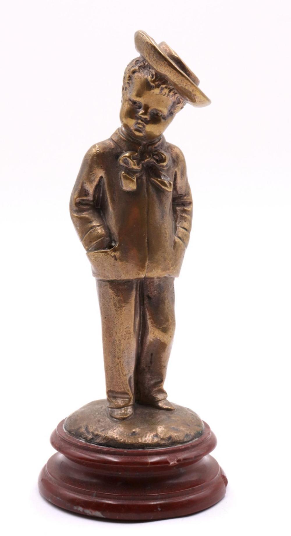 Louis Kley (French 1833-1911) Bronze Boy