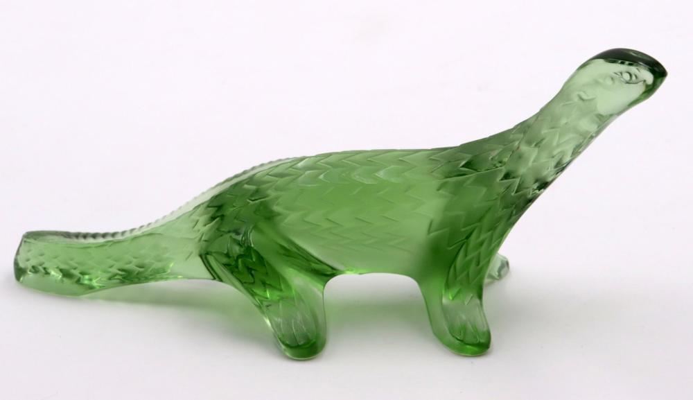 Lalique Green Crystal Lizard