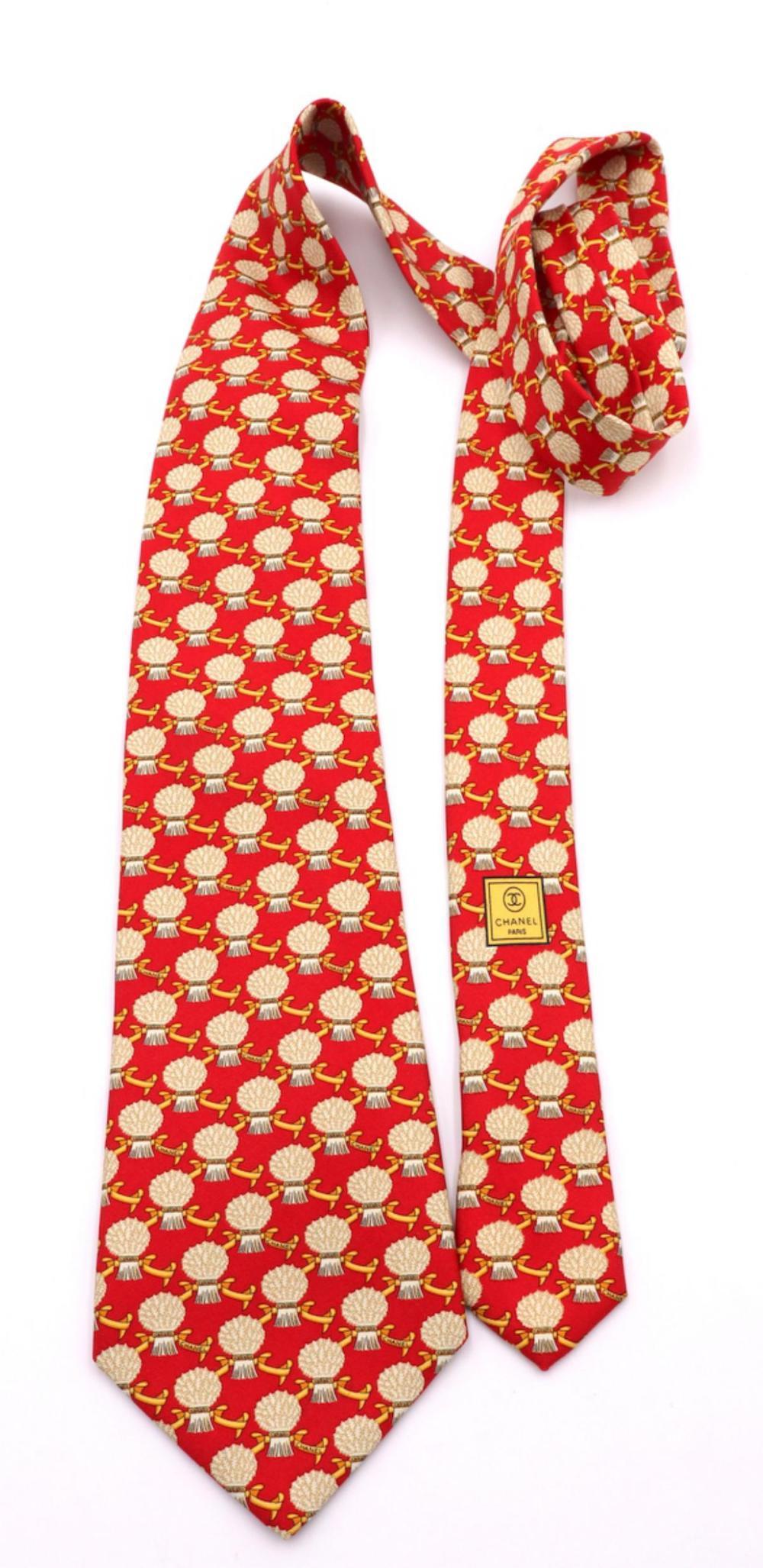 Vintage Chanel 100% Silk Tie