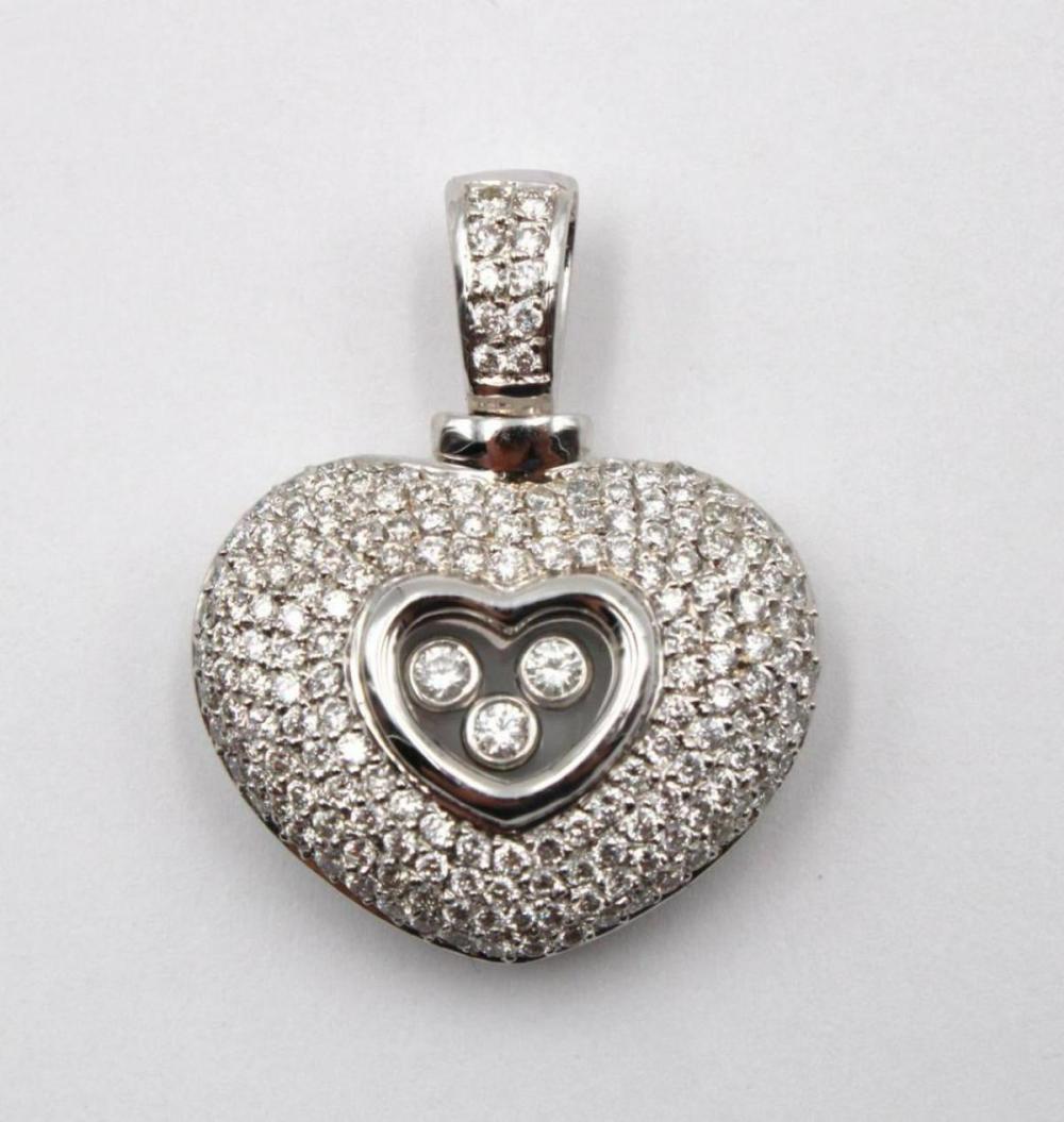 18Kt 2.40ct. Diamond Heart Pendant
