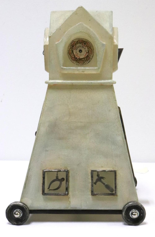 """Tracey Ladd """"Stock Market"""" Art Glass Sculpture"""