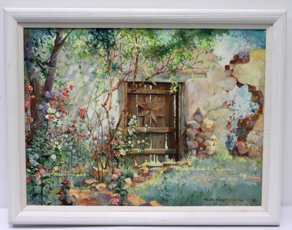 Robert Rucker (American 1932-2001) Oil on Canvas
