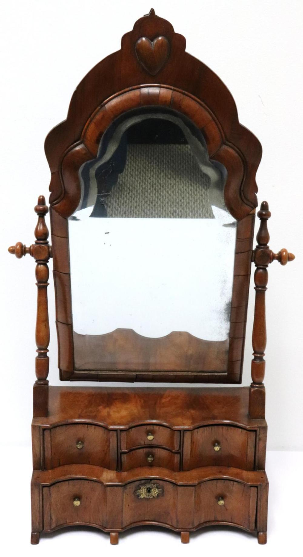 Sold Price Antique Wooden Vanity Mirror With Drawers May 3 0120 6 00 Pm Edt
