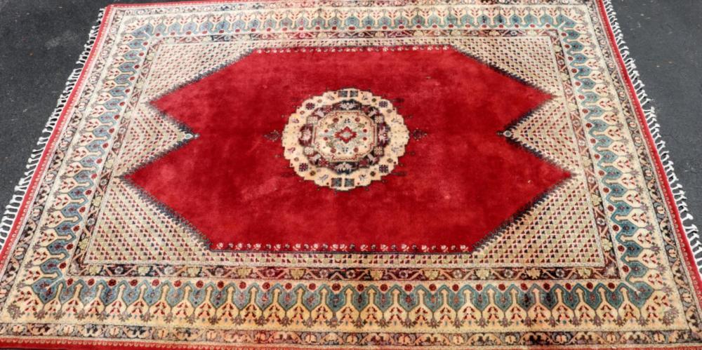 Large 14' X 9' Oriental Wool Rug