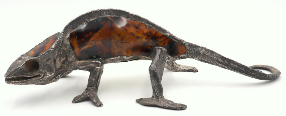 Maitland Smith Bronze Lizard Sculpture