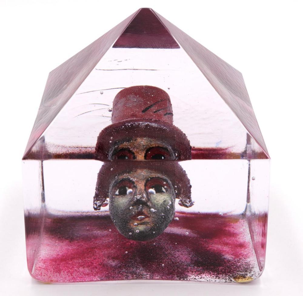 Kosta Boda Bertil Vallien Art Glass Paperweight