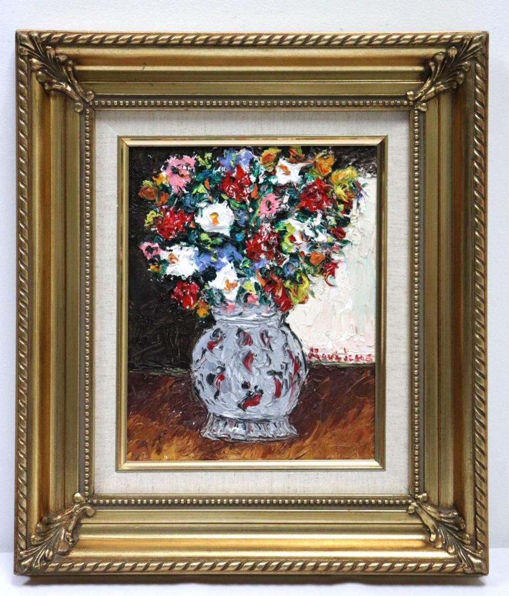 """Michel Kouliche (French 1922-2010) """"Fleurs Au Vase Gris"""""""