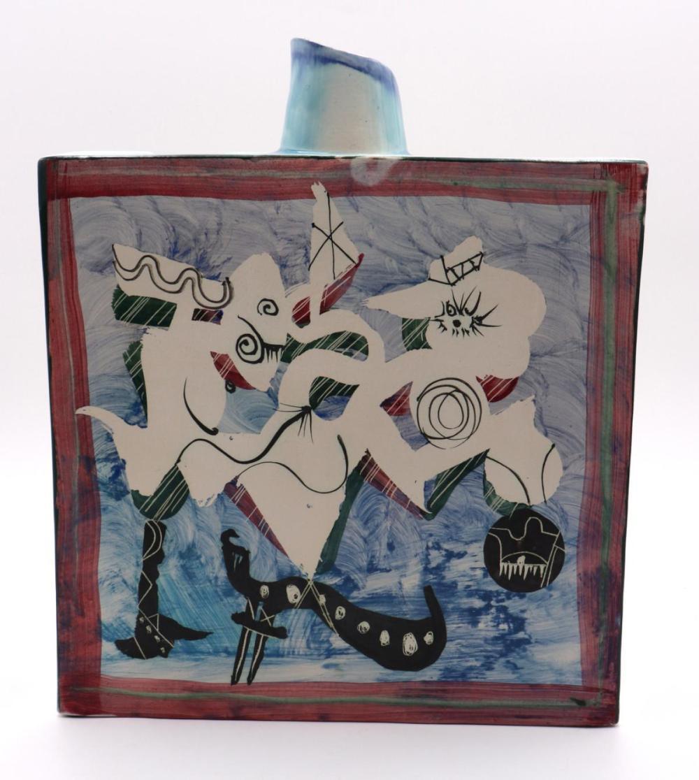 Gilbert Portanier Ceramic Painted Vase