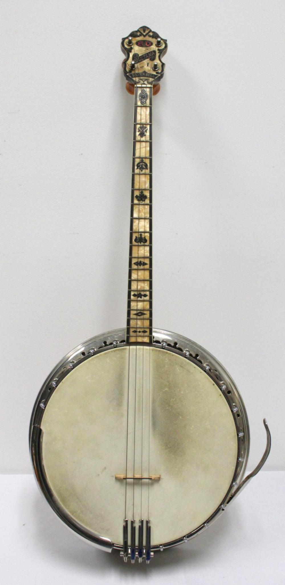 Vintage B&D Sultana Silverbell Tenor Banjo