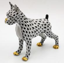 Herend Hand Painted Porcelain Boxer