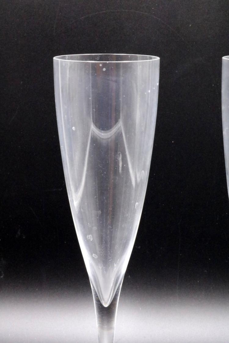 Two baccarat crystal champagne glasses - Baccarat stemware ...