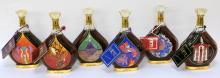 Set of 6 Erte Courvoisier Cognac Bottles