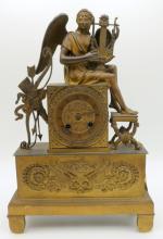 Antique French Bronze Mantle Clock