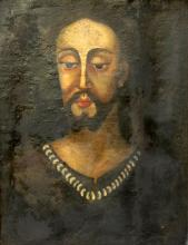 Late 18th C. Unsigned Jesus Oil Painting on Canvas Portrait