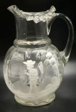 Antique Victorian Mary Gregory Enameled Pitcher