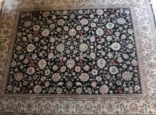 Large 10' x 8' Silk/Wool Rug