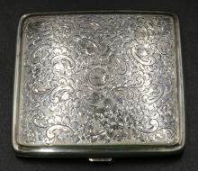Vintage H. Jensen Hejl Denmark Sterling Cigarette Case